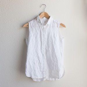 Uniqlo Premium Linen Sleeveless Shirt